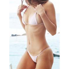 Couleur Unie Néon À Bretelles Sexy Bikinis Maillots De Bain