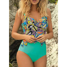 Floral Strap V-Neck Sexy Beautiful Fresh One-piece Swimsuits