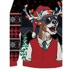 Унісекс Поліестер Друк Північний олень Смішні светри для різдва