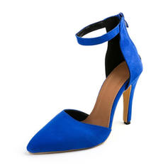 Women's PU Stiletto Heel Pumps With Zipper shoes