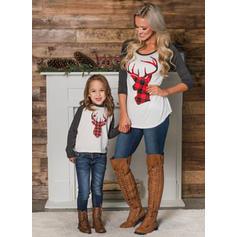 Mamma og meg Reinsdyr matchende Bluser