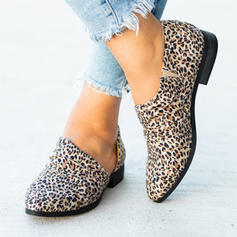 Women's Fabric Flat Heel Flats With Animal Print shoes