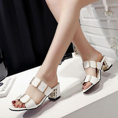 Women's PU Stiletto Heel Sandals Pumps With Hollow-out shoes