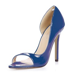 Donna Pelle verniciata Tacco a spillo Sandalo Stiletto Punta aperta scarpe