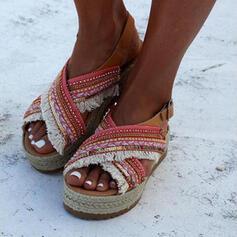 Mulheres Sem salto com Fivela sapatos