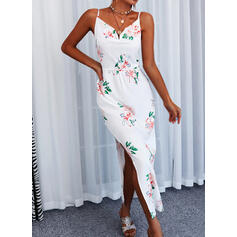 Print/Floral Lace Sleeveless A-line/Asymmetrical Casual/Vacation Slip/Skater Dresses