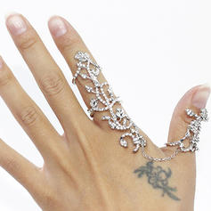 Beautiful Alloy With Rhinestone Girls' Fashion Rings
