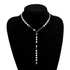 Beautiful Rhinestones Copper With Rhinestone Ladies' Necklaces
