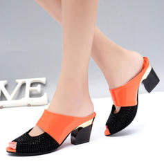 Femmes PU Talon stiletto Sandales Escarpins avec Brodé chaussures