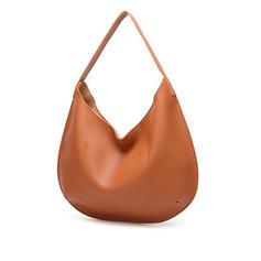 Solid Color PU Shoulder Bags/Hobo Bags
