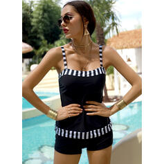 Stripe Strap Vintage Tankinis Swimsuits