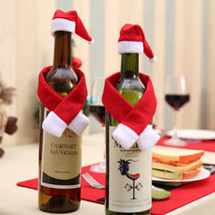 Boże Narodzenie Tkanina Pokrywa butelki kopalni