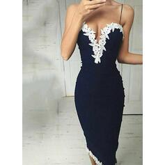 Lace/Patchwork Sleeveless Sheath Casual/Vacation Midi Dresses