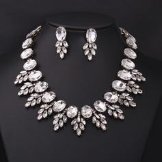 Hermoso Diamantes de imitación con Rhinestone Señoras' Sistemas de la joyería