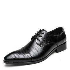 Lace-up Dress Shoes Leatherette Men's Men's Oxfords