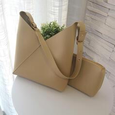 Classique/Vintage/Couleur unie/Simple Sacs fourre-tout/Sac en bandoulière/Ensembles de sac/Bolsas de cubo