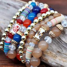 Le plus chaud Fantaisie Alliage Perles Parures Bracelets (Lot de 4)
