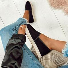 Femmes Tissu Talon plat Chaussures plates Bout fermé avec La copie Animale chaussures