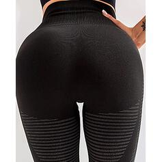 Solid Long Sexy Skinny Striped Leggings