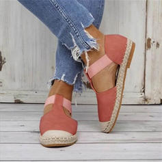 Women's Fabric Flat Heel Flats With Elastic Band shoes