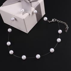 À la mode De faux pearl avec Perle d'imitation Femmes Colliers (Vendu dans une seule pièce)