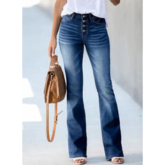 Treillis Longue Élégante Ancien Bourré Pantalon Jeans