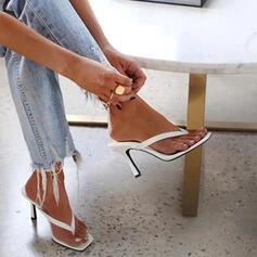 Vrouwen PU Stiletto Heel Sandalen Pumps Flip Flops Slippers met Effen kleur schoenen