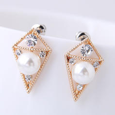 Beautiful Alloy Rhinestones Imitation Pearls With Imitation Pearl Women's Fashion Earrings (Set of 2)