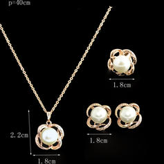 Fashionable Alloy Pearl Ladies' Jewelry Sets