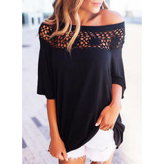 Lace Off the Shoulder 1/2 Sleeves Casual Blouses
