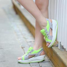 De mujer PU Tipo de tacón Sandalias Encaje con Otros zapatos