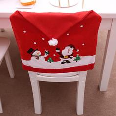 Feliz Navidad Monigote de nieve Papa Noel Tela no tejida Cubierta de la silla