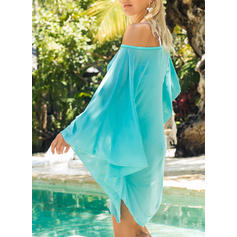 Solid Color Strapless Elegant Fresh Cover-ups Swimsuits