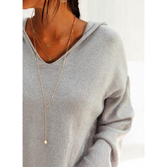Solid Plain Hooded Oversized Casual Sweaters