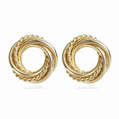 Simple Alloy Women's Earrings