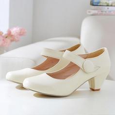 Dla kobiet Skóra ekologiczna Obcas Slupek Z Rzep obuwie