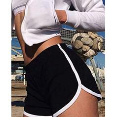 Solid Sexy Skinny Sporty Shorts