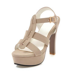 Women's Suede Stiletto Heel Sandals Pumps Platform With Hollow-out shoes