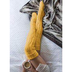 Colore solido traspirante/Calza altezza ginocchio Calzini/calze autoreggenti