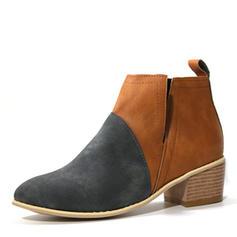 Kvinner PU Lav Hæl Støvler med Annet sko