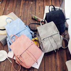 Women Girl's PU Backpack Shoulder School Book Travel Handbag Rucksack Bag