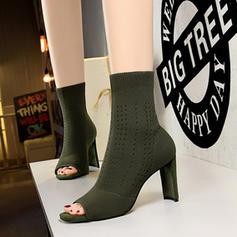 De mujer Tela Tacón stilettos Botas al tobillo con Agujereado zapatos