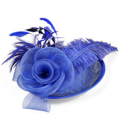 Ladies ' Smukke/Elegant Bomuld med Fjer/Silke Blomst/Tyl Fascinators/Kentucky Derby Hatte/Tea Party Hats