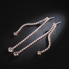 Shining Zircon Copper With Zircon Women's Fashion Earrings (Sold in a single piece)