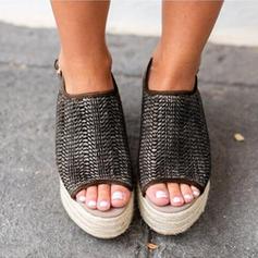 Femmes Son de maïs Talon compensé chaussures