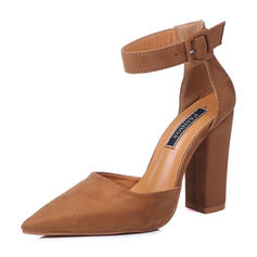 Femmes Tissu Talon stiletto Sandales Escarpins avec Boucle chaussures