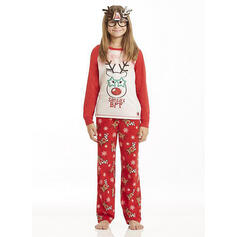 Cartoon Print Familie matchende Jule Pyjamas