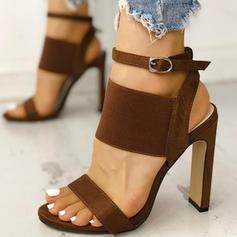 Kvinder PU Stiletto Hæl sandaler Pumps med Spænde sko