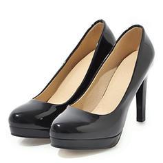 Women's Leatherette Patent Leather Stiletto Heel Pumps Platform shoes