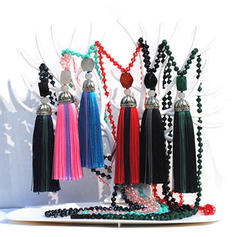 Fashionable Tibetan Silver With Tassels Women's Fashion Necklace